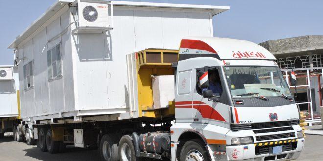 اسطول النقل البري الخاص بالشركة